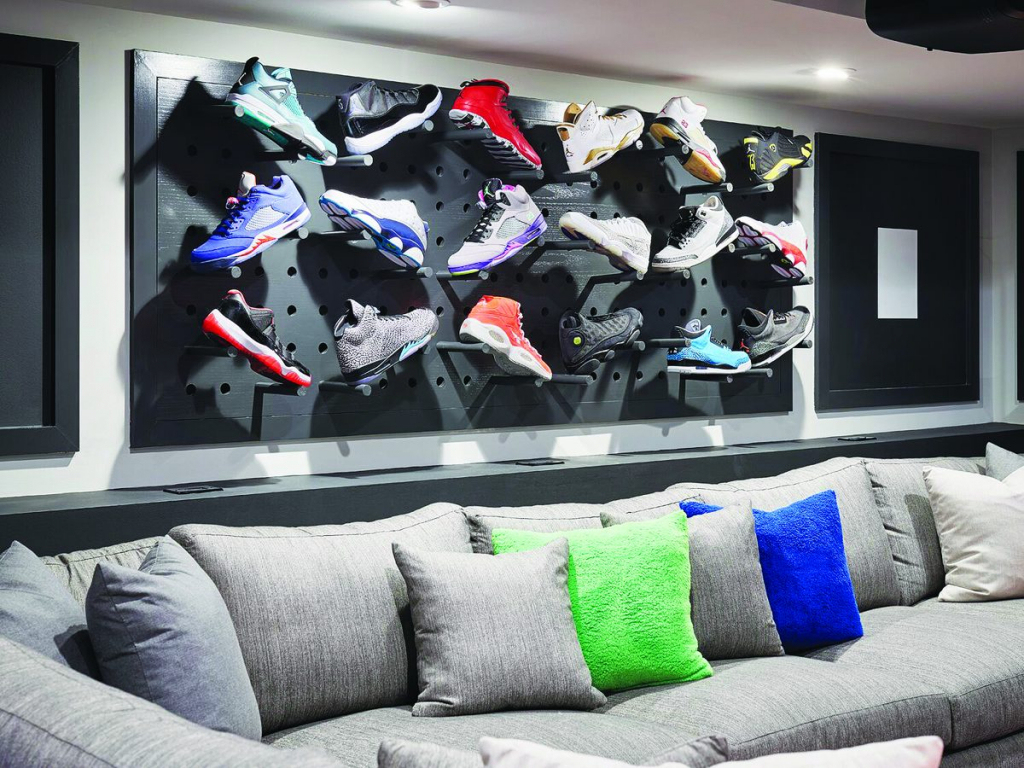 The integration team at King of Prussia, Pa.-based Stone Glidden was enlisted by The McMullin Design Group to collaborate on a technology system solution for a multi-purpose media room installation in a basement for a basketball pro who spends only about a third of the year home due to a rigorous travel schedule.