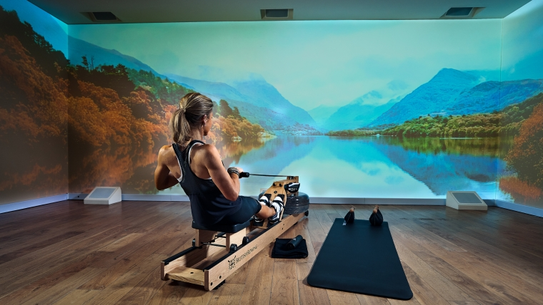 Immersive Gym is also an incredibly flexible solution from a content perspective. The system can be integrated with top fitness platforms such as Asana Rebel, Zwift, and Peloton, but the Immersive Gym team also creates custom content for clients.