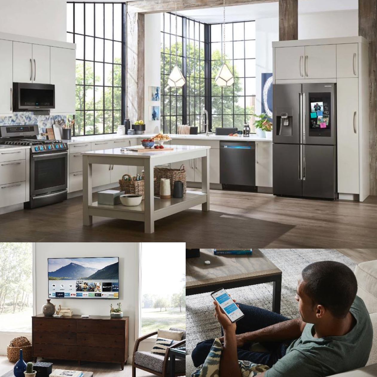 Manufacturers like Samsung, showcased suites of products, touting their connectivity and personalization.