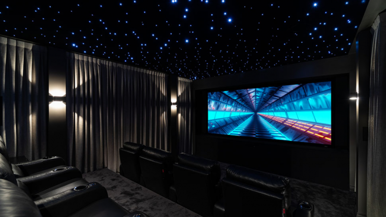 "Severtson Screen appeared in this home theater, ""Electric Dreams,"" which won CEDIA's Best Home Cinema; Level II; Asia Pacific (by The Digital Picture)"