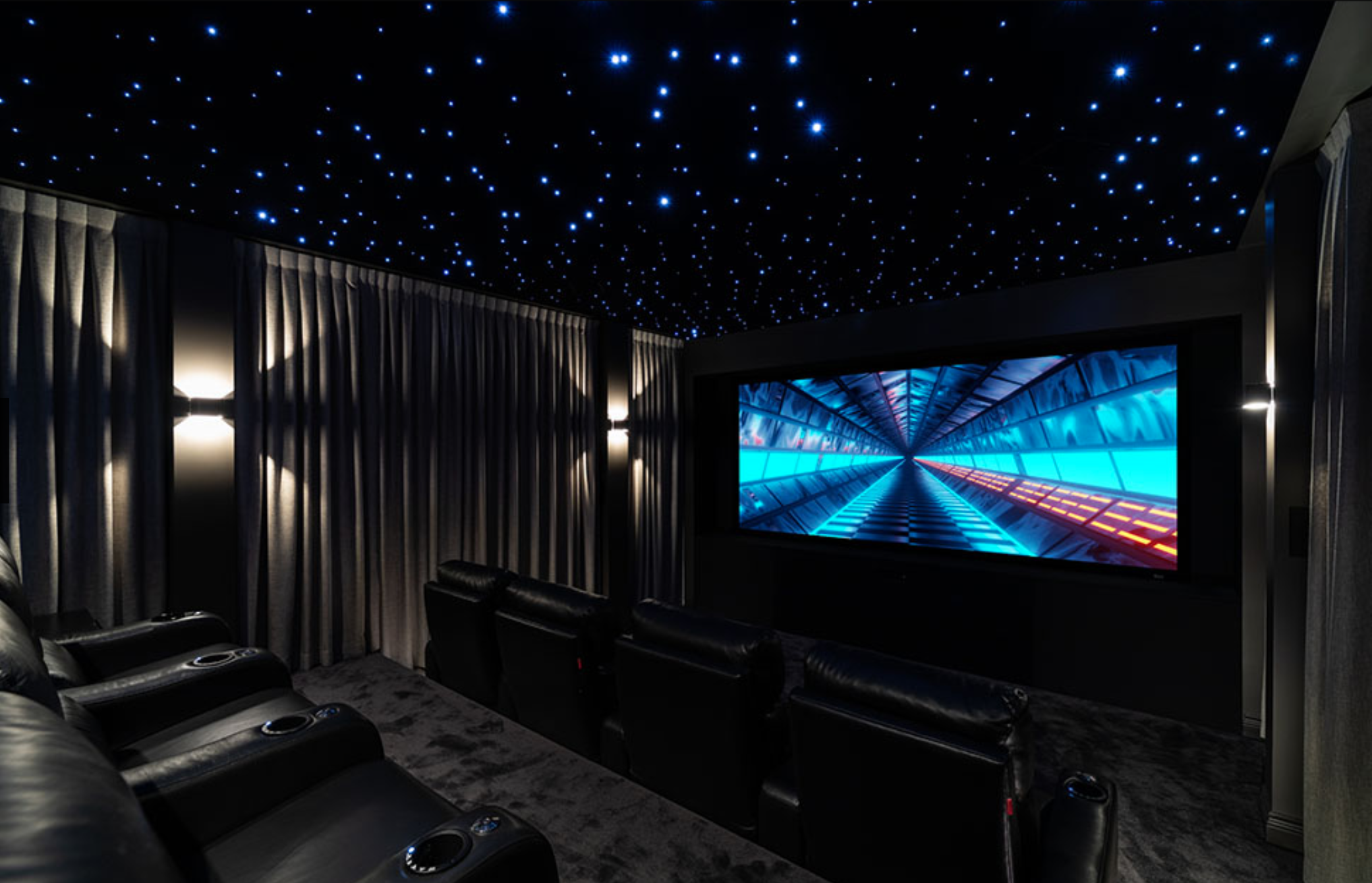 """Severtson Screen appeared in this home theater, """"Electric Dreams,"""" which won CEDIA's Best Home Cinema; Level II; Asia Pacific (by The Digital Picture)"""
