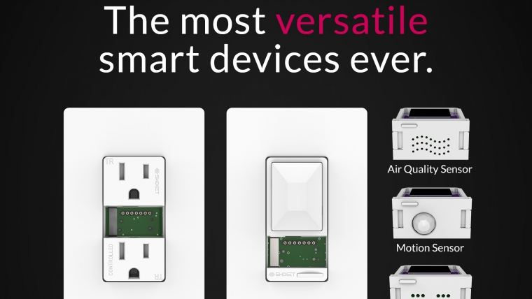 """Swidget's outlets and switches are installed """"smart ready."""" They function as regular wiring devices until they are paired with a Swidget smart Inserts."""