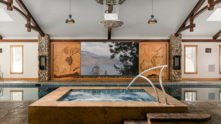 Screen Innovations installs dive in pool theater
