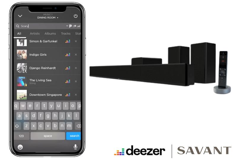 Deezer HiFi now integrated into Savant systems