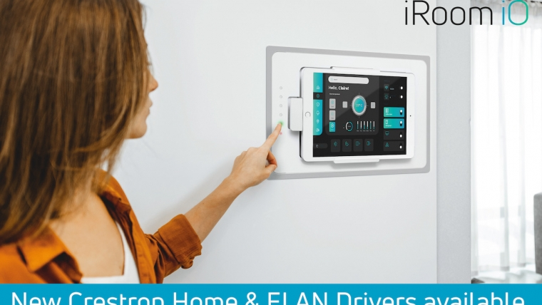iRoom announces Crestron Home and ELAN drivers