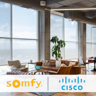 Somfy and Cisco Partner for Smart Building Shading Solutions
